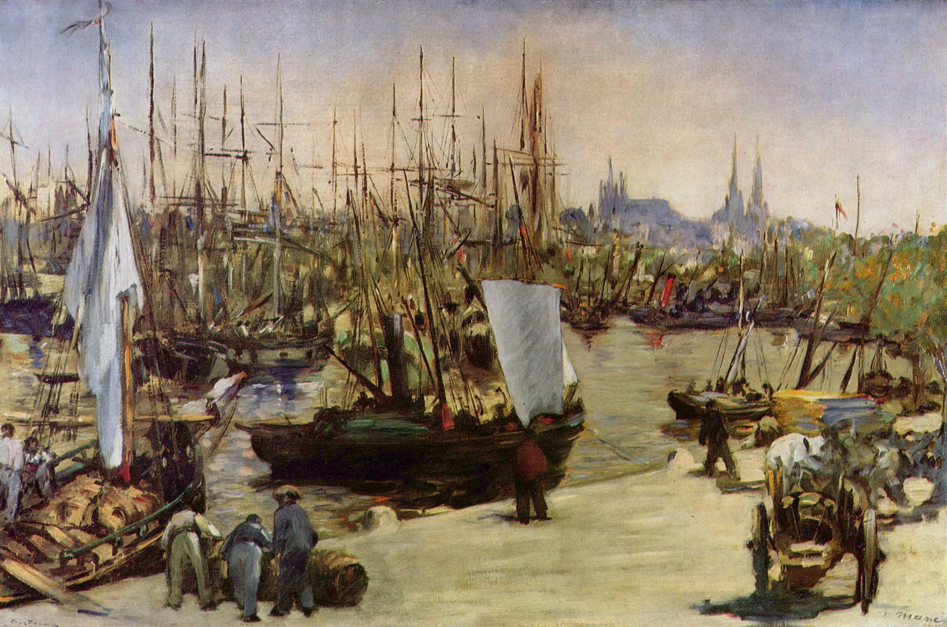 Edouard Manet's Port de Bordeaux: considered by many as the