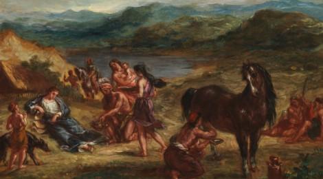 Ovid among the Scythians by Eugene Delacroix