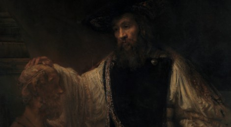 Aristotle with a Bust of Homer by Rembrandt